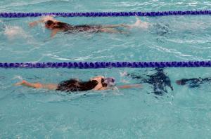 The swim before it got a bit crazy!