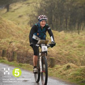 Biking, smiling :-)