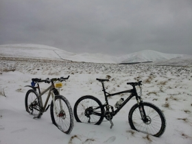 Obligatory 'bikes in snow' photo
