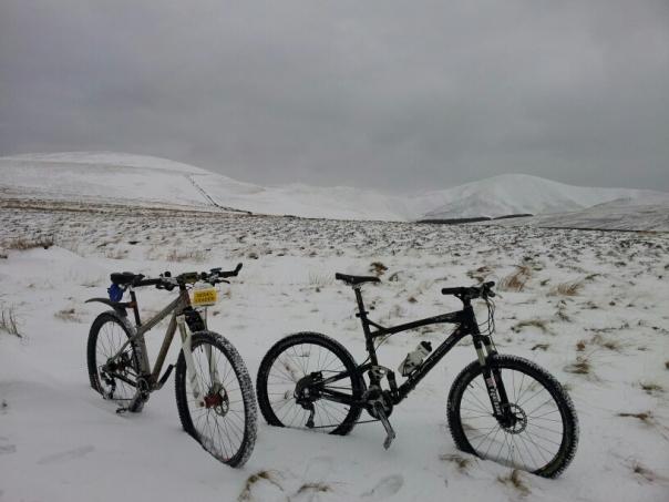 Obligatory 'bikes in snow' photo