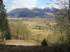 The view from Whinlatter pass to the camping pods