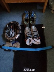 Kit laid out for transition practice.