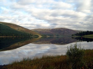 St Mary's Loch – scene of the swim and run!