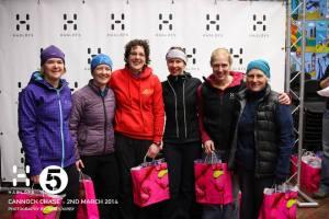 Female pairs podium