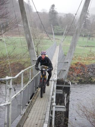 This little bridge was harder to ride over than it looks!