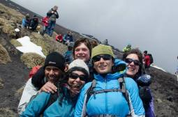 Lancy, Bidisha, Anna, Maria, me on Etna