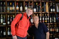 We did wine tasting here - Andy with the proud owner