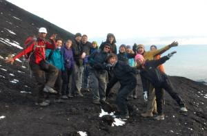 A group shot of most of us on Etna
