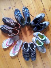 Many different pairs of shoes are required