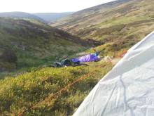 Overnight bivvy, Paul and Jon still sleeping