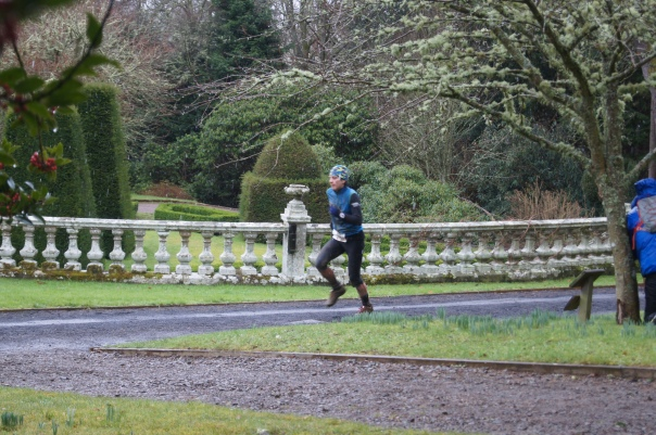 Sprint finish, with Andy hiding by a tree!