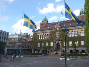 Remind me, which country were we in again? Sweden does giant flags