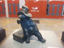 Paddington Bear! Think this is the frist time I've travelled from Paddington Station