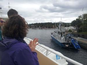 Approaching Sandhamn
