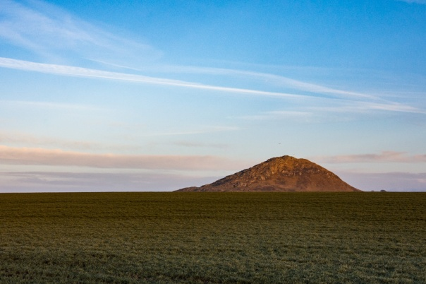 North Berwick Law poking up on a perfect morning