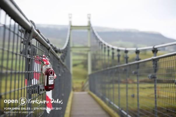 Bouncy suspension bridge on the run.