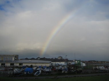 Rainbow at the start - a good portent?