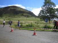 Run with view of Arthur's Seat