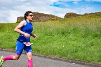 Run course with view of Salisbury Crags