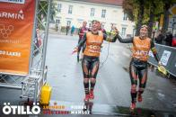 Josefine and Maria finish the long race