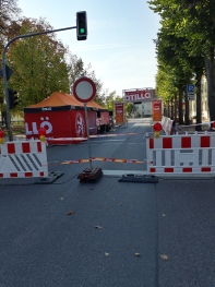 Road closed for racing!