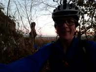 MTBing to work - up a hill just as it got light