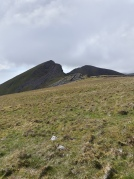 First view of Mynydd Mawr ridge - much better views than the fog I got on recce day