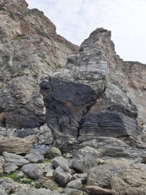 Rock formations at St Agnes (mainland)