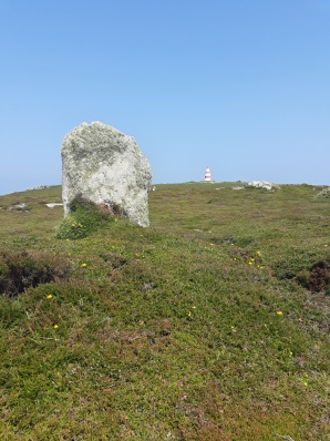 Standing stone on St Martin's