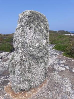 Another standing stone - with a face - apparently