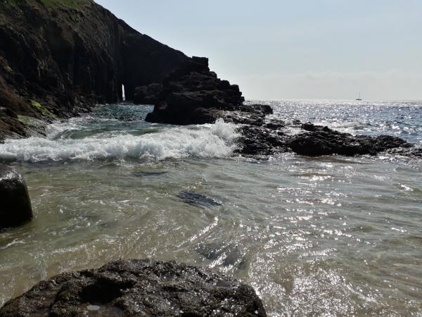 Swirling water