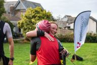 Hugs at finish :-)