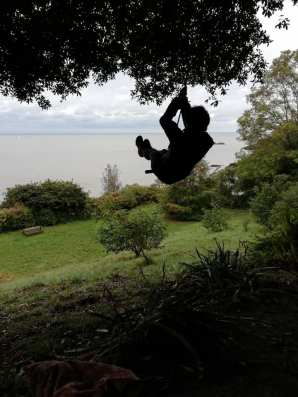 Whee ... rope swing to France