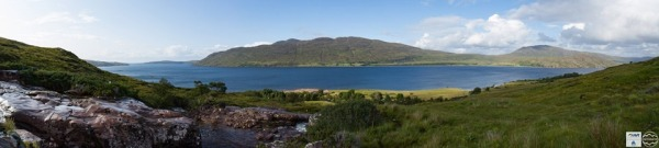 View across the loch from the top of the canyoning