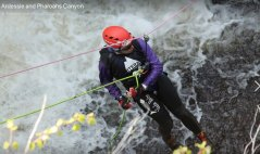 Waterfall abseil!! Not like doing it down a climbing wall.