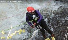 Waterfall abseil!! Not like doing it down a climbing wall.
